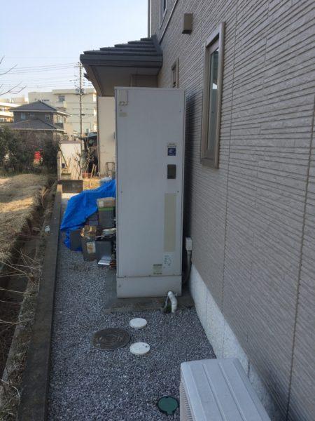 埼玉県北本市 電気温水器からエコキュート交換  日立『BHP-F46RU』
