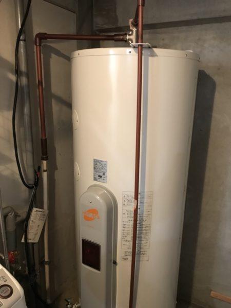 東京都江戸川区 電気温水器交換 セキスイMS-37N2⇒日立『BE-L37EM』