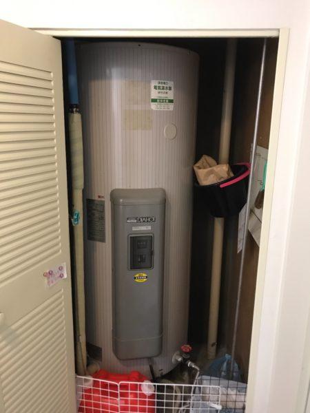 東京都調布市 電気温水器交換 三菱SRG-3743⇒日立『BE-L37E』