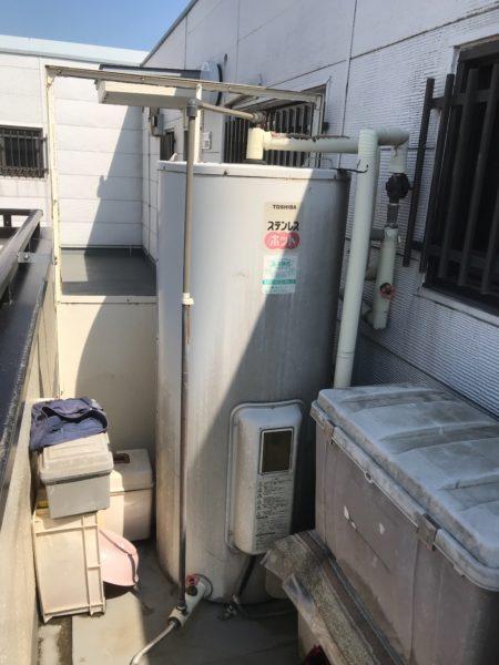 東京都足立区 電気温水器交換工事 東芝『HPL-N375RS』⇒日立『BE-L37E』