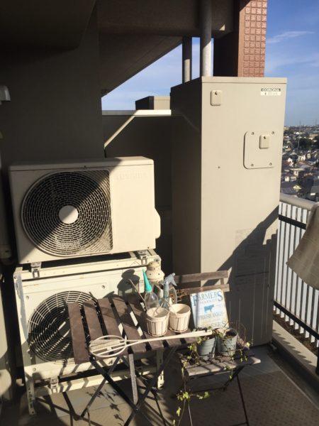オール電化マンションのコロナのエコキュート交換工事 千葉県船橋市
