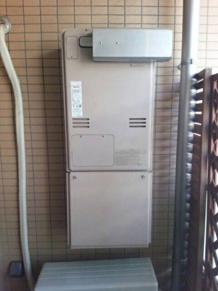 文京区k様宅での給湯暖房熱源機交換工事の施工事例です。リンナイ『RUFH-V2403AA2-3』⇒『RUFH-A2400AW2-3』