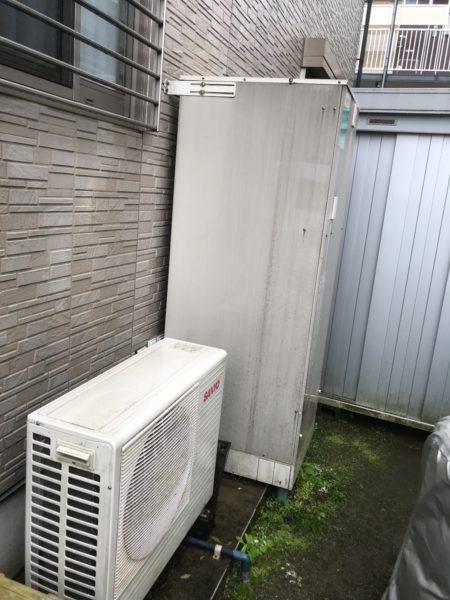 茨城県つくば市で日立エコキュートの交換 工事費込み価格¥330,000-(税別) SANYO『SHP-T37F』⇒『BHP-F37RU』