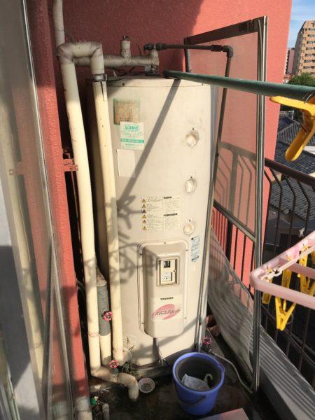 東京都台東区 電気温水器交換 東芝『HPL-TL374M』⇒日立『BE-L37E』