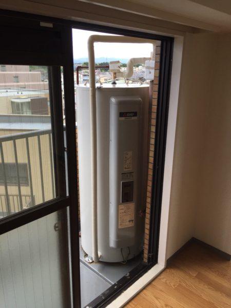 東京都多摩市マンションで電気温水器取替・交換工事 三菱『SRG-375E』