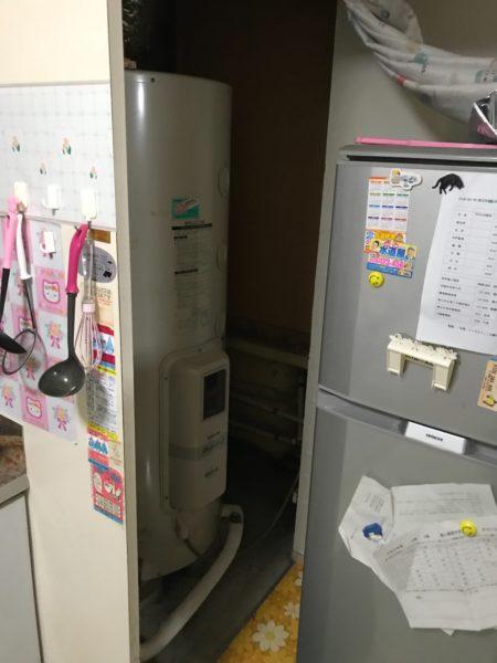 埼玉県川越市 電気温水器取替・交換 東芝『HPL-TL372M』⇒日立『BE-L37E』