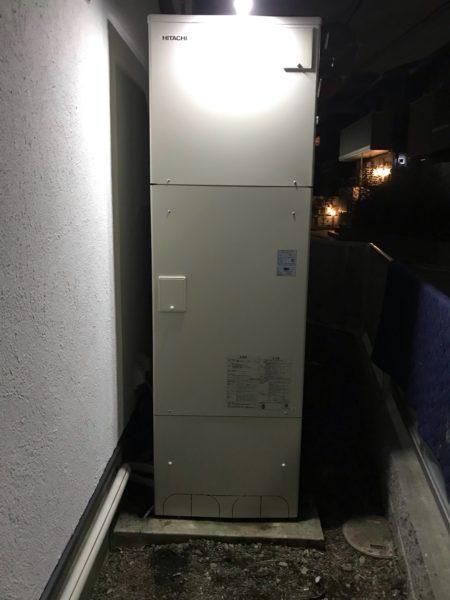 京都府京都市北区でエコキュート交換工事 ナショナル『HE46K1Q』→日立『BHP-F46RU』