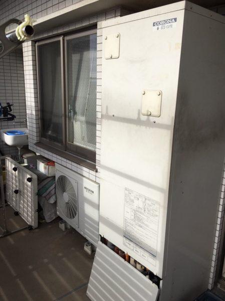 大阪府豊中市でエコキュート交換工事 コロナ『CHP-H3014A』→コロナ『CHP-S30AY1』