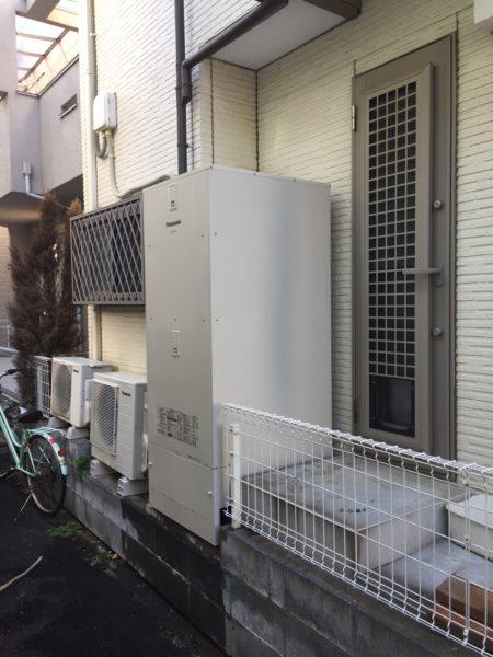 茨城県つくばみらい市でエコキュート交換工事 コロナ『CHP-H4614AT』→パナソニック『HE-D46FQS』
