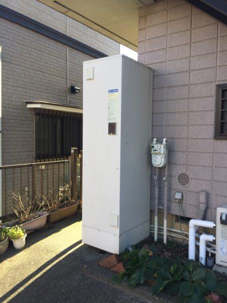 群馬県渋川市でエコキュート交換工事 長府『EHP-373GPXH』→日立『BHP-F37RD』