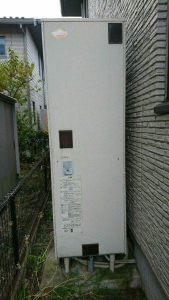 島根県浜田市で電気温水器⇒エコキュート交換工事 日立『BE-4670-BFAWU』→日立『BHP-F37RU』