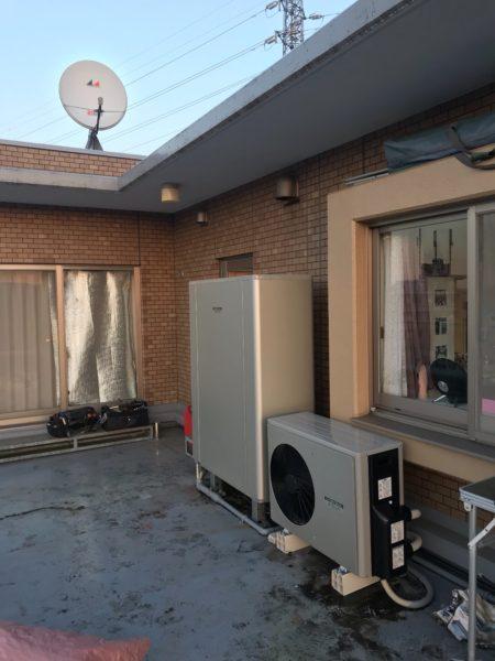 静岡県沼津市でエコキュート交換工事 ナショナル『XVBET3022A』→コロナ『CHP-ED302AY1』