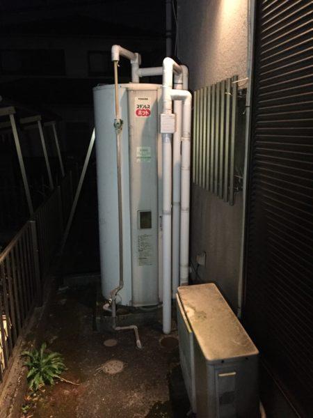 東京都八王子市で電気温水器からエコキュートへの交換工事 東芝『HPL-D569RS』→日立『BHP-ZA37RU』