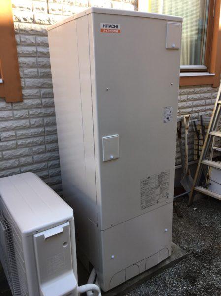 岡山県瀬戸内市でエコキュート交換工事 ナショナル『HE-37K2Q』→日立『BHP-F37RD』
