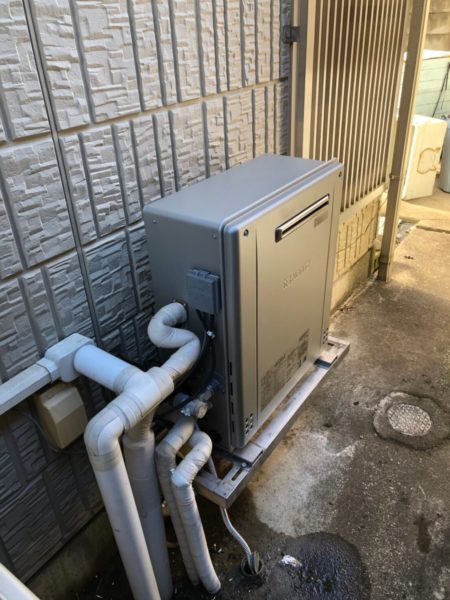 鳥取県鳥取市でガス給湯器交換工事 ノーリツ『GT-2410ARX』→ノーリツ『GT-C2462SARX BL』