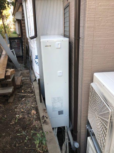 奈良県大和高田市でエコキュート交換工事 ダイキン『EQ37EFTV』→日立『BHP-FS37RH1』