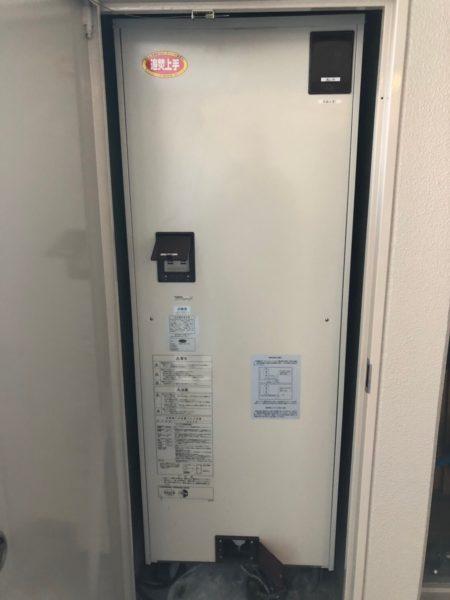 岡山県備前市で電気温水器交換工事 日立『BEB-3870-BFAW』→三菱『SRT-J37WD5』