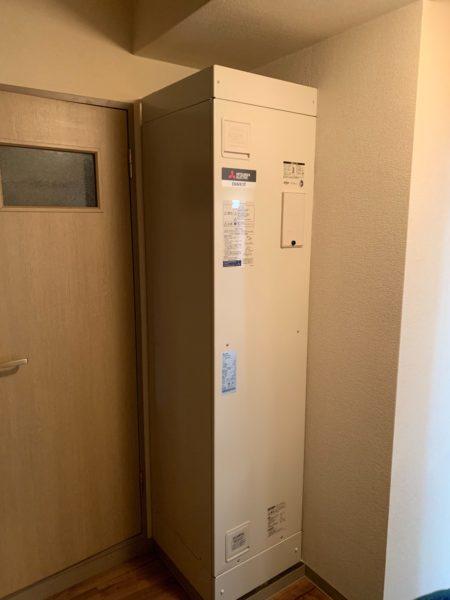 山梨県山梨市で電気温水器交換工事 『DH-15T3X』→三菱『SRG-151E-R』