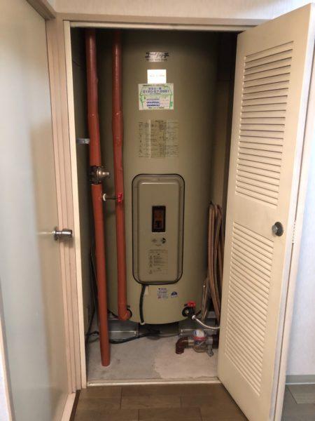 兵庫県豊岡市で電気温水器交換工事 『NS38』→三菱『SRG-465E』