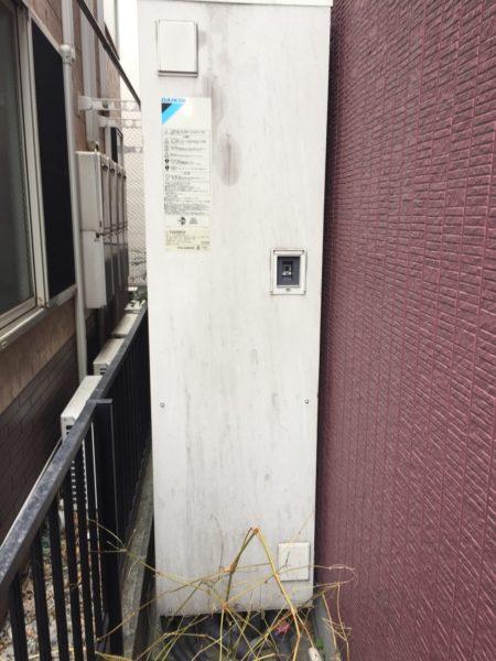 島根県松江市でエコキュート交換工事 ダイキン『TU37DFCV』→パナソニック『HE-J37JQS』