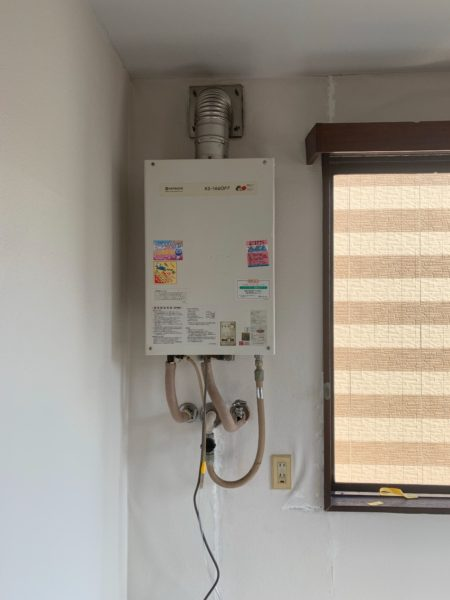 長野県松本市でガス給湯器交換工事 日立『KS-1660FF 13A』→リンナイ『RUX-V2015SFFUA-E』