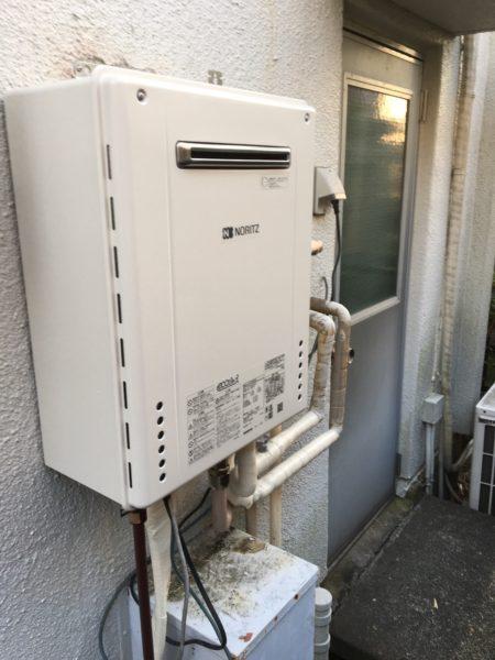 大阪府貝塚市で給湯器交換工事 ノーリツ 『GT-2022AWX』→ノーリツ 『GT-C2462SAWX BL』