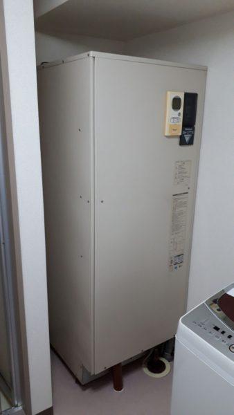 愛知県岡崎市で電気温水器交換工事 ナショナル『DH-37T1X』→コロナ『UWH-37110N2U-H』