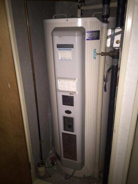 茨城県日立市で電気温水器交換工事 三菱電機『SRG-3744-BL』→三菱電機『SRG-375E』