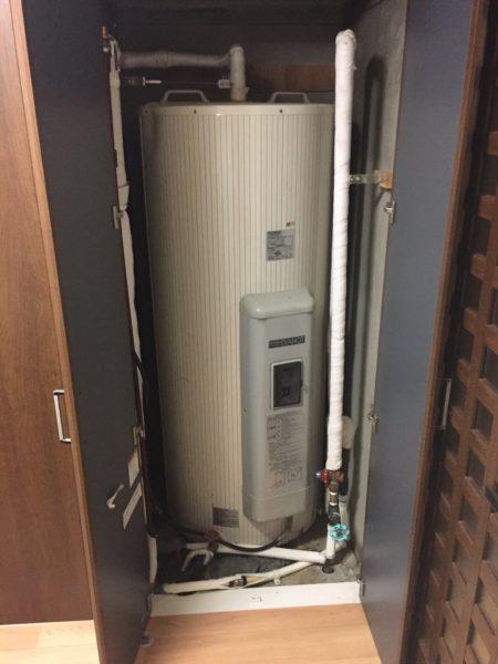 岡山県吉備中央町で電気温水器交換工事 三菱電機『SR-3734-BL』→三菱電機『SRG-375E』