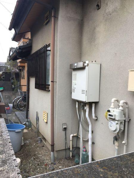 岡山県玉野市でガス給湯器交換工事 ノーリツ『GT-2027SAWX 13A』→リンナイ『RUF-A2005SAW(A) 13A』
