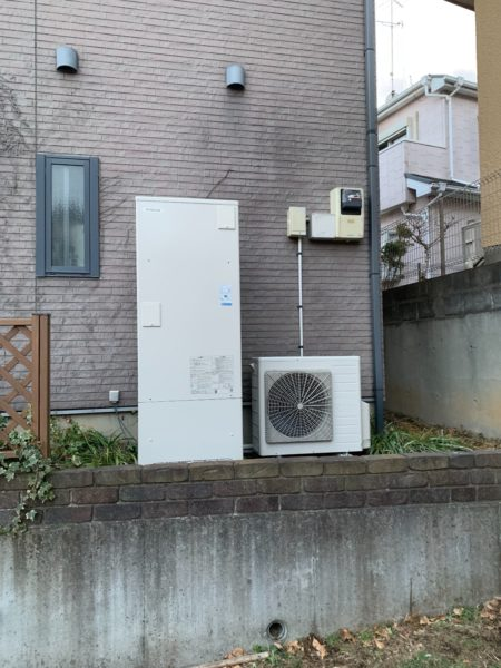 兵庫県洲本市でエコキュート交換工事 ナショナル『HE-37R1A』→日立『BHP-F37RU』