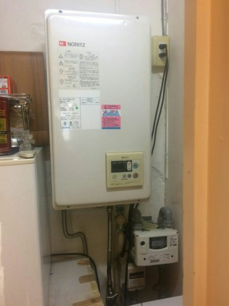 東京都目黒区自由が丘で給湯器交換工事 ノーリツ『GQ-1623WA-FFB 13A』→ノーリツ『GQ-1637WS-FFB 13A』