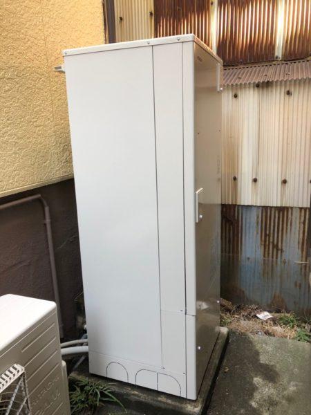 広島県三次市で電気温水器からエコキュート交換工事 三菱『SRT-4668FM』→日立『BHP-F37RU』