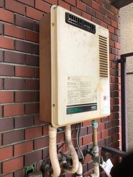 東京都墨田区で給湯専用器交換 ノーリツ『GQ-1300WA 13A』→リンナイ『RUX-A1615W-E 13A』
