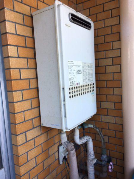 愛知県瀬戸市で給湯器交換工事 ノーリツ『GQ-1616WX 13A』→リンナイ『RUX-A1615W-E』