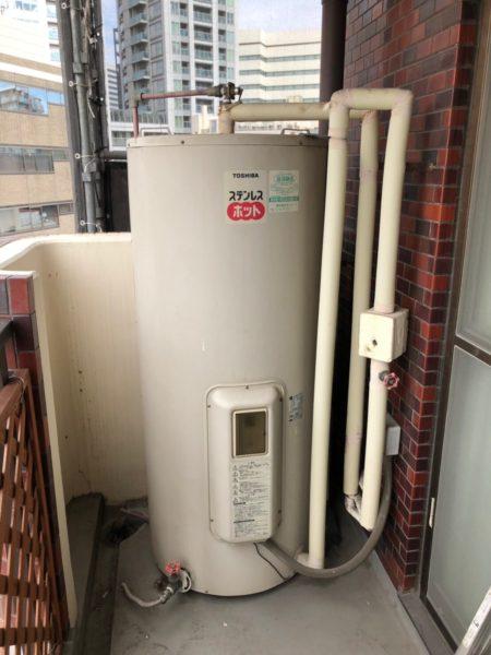 東京都中野区で電気温水器交換 東芝『370L電気温水器』→三菱電機『SRG-375E』