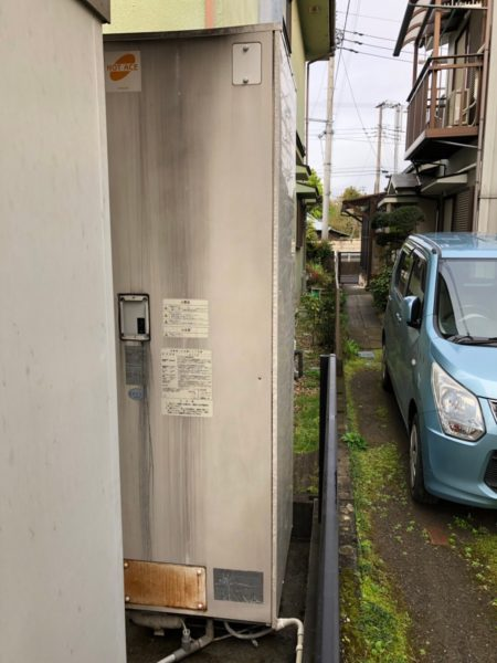 神奈川県小田原市で電気温水器交換工事 日立『BE-4665LCKZ』→三菱『SRG-376E』