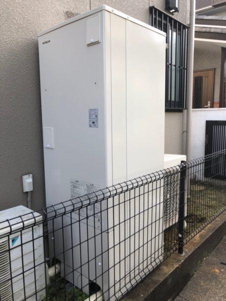 東京都西東京市で電気温水器からエコキュート交換工事 日立『BEB-4670-BFAWU』→日立『BHP-F37RU』