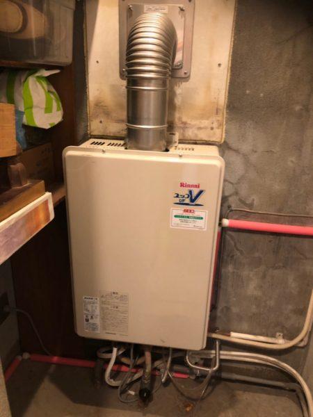 東京都杉並区でガス給湯器交換工事 リンナイ『RUF-V1615AFFD』→リンナイ『RUF-V1615ADD(C)』