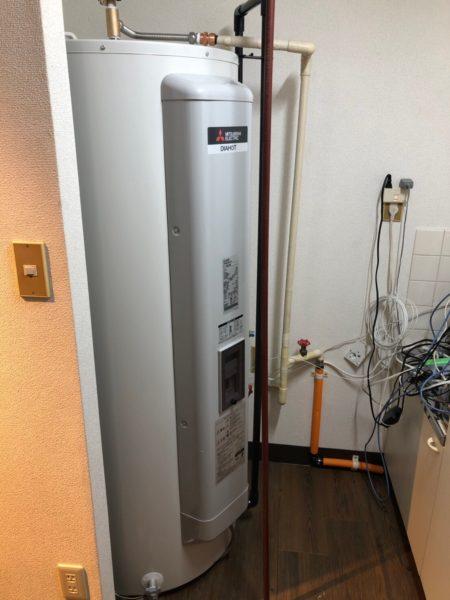 東京都目黒区で電気温水器交換工事 三菱電機『SR-3734-BL』→三菱電機『SRG-375E』