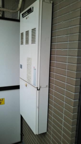 神奈川県海老名市でガス給湯機交換工事 ハーマン『YG1603R』→リンナイ『RUX-A1615W-E+WOPA101(K)』