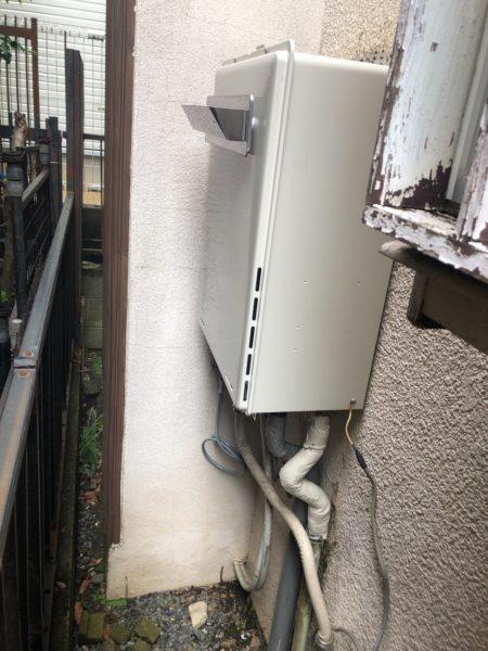東京都八王子市でガス給湯機交換工事 ノーリツ『GT-2027SAWX』→リンナイ『RUF-A2005SAW+WOP-8301』