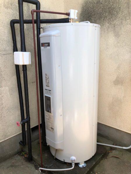 東京都町田市で電気温水器交換工事 ナショナル『DH-4666』→三菱『SRG-375E』