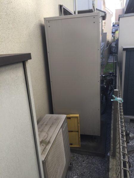 東京都調布市でエコキュート交換工事 コロナ『CTU-461NA6』→日立『BHP-F46RU』
