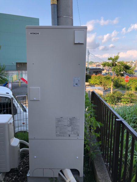 山梨県笛吹市で電気温水器からエコキュート交換工事 三菱『SRT-3768WFU-BL』→日立『BHP-F37RU』
