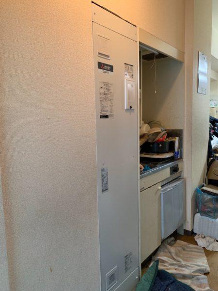 東京都大田区で電気温水器交換工事 ナショナル『DH-1501D』→三菱『SRG-151E-R』