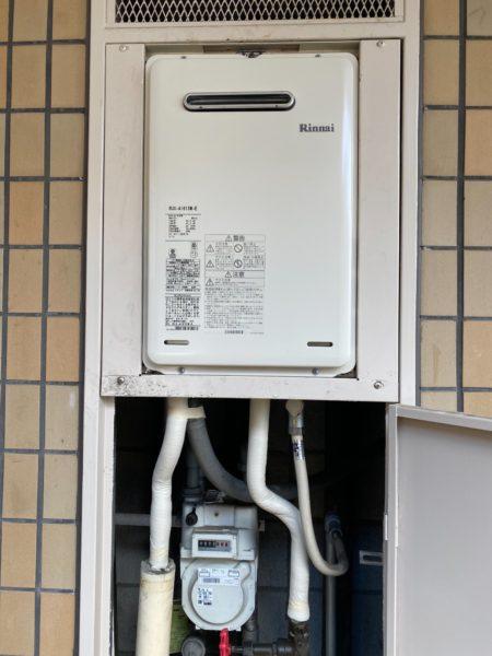 品川区 リンナイガス給湯器交換工事¥74,800(税込)東京ガス 『KG-A516RFW』⇒『RUX-A1615W-E』 株式会社ミズテック